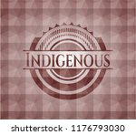 indigenous red emblem with... | Shutterstock .eps vector #1176793030