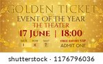 golden ticket template  concert ... | Shutterstock .eps vector #1176796036