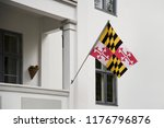 maryland flag. maryland state... | Shutterstock . vector #1176796876