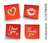 set of red sheets of note... | Shutterstock . vector #1176798436