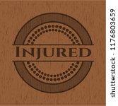 injured retro wood emblem | Shutterstock .eps vector #1176803659