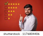 the best rating  evaluation ... | Shutterstock . vector #1176804406