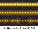 set of seamless led glowing... | Shutterstock .eps vector #1176805240