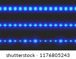 set of seamless led glowing... | Shutterstock .eps vector #1176805243