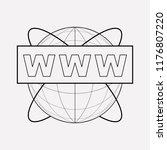 www address icon line element.  ... | Shutterstock . vector #1176807220