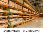 perspective of warehouse with... | Shutterstock . vector #1176809890