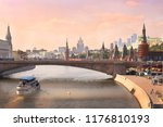 moscow center river lanscape... | Shutterstock . vector #1176810193