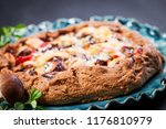 dietary biscuit with fresh... | Shutterstock . vector #1176810979