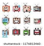 funny tv television emojis emoji | Shutterstock .eps vector #1176813460