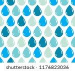 rain drops falling seamless... | Shutterstock .eps vector #1176823036
