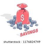 personal savings concept  money ... | Shutterstock .eps vector #1176824749
