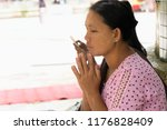 bago myanmar august 19 2018... | Shutterstock . vector #1176828409