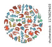 round design element with... | Shutterstock .eps vector #1176829603