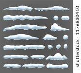 snow drift vector. winter...   Shutterstock .eps vector #1176830410