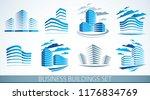 office buildings set  modern... | Shutterstock .eps vector #1176834769