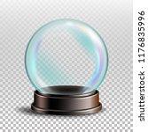christmas snowglobe. sphere... | Shutterstock . vector #1176835996