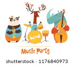 vector music party poster with... | Shutterstock .eps vector #1176840973