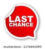 red vector banner last chance   Shutterstock .eps vector #1176841090