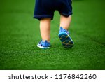 the kid makes his first steps...   Shutterstock . vector #1176842260