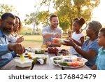 multi generation family... | Shutterstock . vector #1176842479