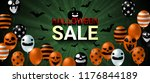 halloween sale banner with... | Shutterstock .eps vector #1176844189