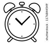 vector single black outline... | Shutterstock .eps vector #1176844549