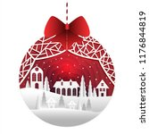 christmas background with paper ... | Shutterstock .eps vector #1176844819