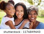 portrait of grandmother with... | Shutterstock . vector #1176849643