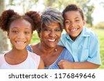 portrait of grandmother with...   Shutterstock . vector #1176849646