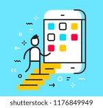 vector business illustration of ... | Shutterstock .eps vector #1176849949