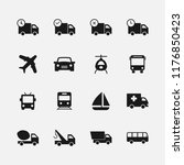 transport icons set for web and ... | Shutterstock .eps vector #1176850423