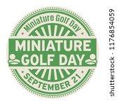 miniature golf day  september... | Shutterstock .eps vector #1176854059