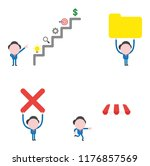 vector illustration set of...   Shutterstock .eps vector #1176857569