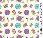 creative seamless pattern with... | Shutterstock .eps vector #1176860749