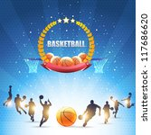 basketball vector design | Shutterstock .eps vector #117686620
