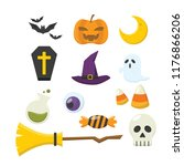 halloween icon collection | Shutterstock .eps vector #1176866206