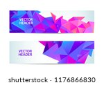 set of modern vector banners... | Shutterstock .eps vector #1176866830