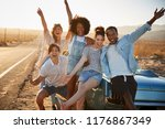portrait of five friends... | Shutterstock . vector #1176867349