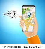 mobile gps navigation... | Shutterstock .eps vector #1176867529