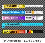 entrance bracelet at concert... | Shutterstock .eps vector #1176867559