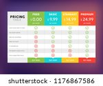 pricing table design for... | Shutterstock .eps vector #1176867586