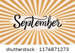 hand drawn typography lettering ... | Shutterstock .eps vector #1176871273
