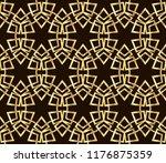 seamless horizontal borders...   Shutterstock . vector #1176875359