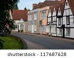 Village Street In Dedham Uk