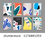collection of creative... | Shutterstock .eps vector #1176881353