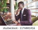 a beautiful stylish african... | Shutterstock . vector #1176881416