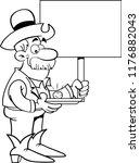 black and white illustration of ... | Shutterstock .eps vector #1176882043