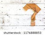tangram puzzle in question mark ... | Shutterstock . vector #1176888853