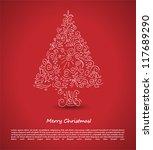 Christmas Tree. Vector...