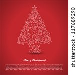 christmas tree. vector... | Shutterstock .eps vector #117689290